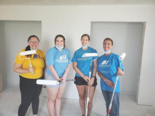 These ladies are working hard helping out Habitat for Humanity